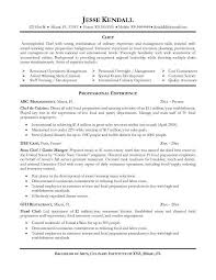 Resume Examples Monster by Resume Example Professional Culinary Resume Templates List Of