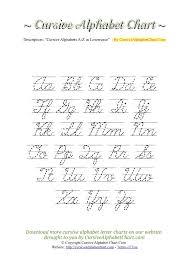 cursive alphabet charts for kids free printable cursive letters