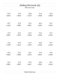 9 best images of rounding decimals chart decimal places worksheets