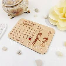 calendar save the date magnet custom engraved save the date wood