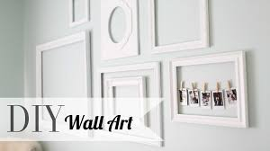 diy chic wall art u0026 polaroid display home decor ann le youtube
