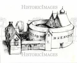 1979 press photo globe theatre wayne state sketch historic images