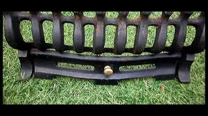 cast iron fire grate guard front open fire basket log burner coal