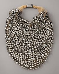bib necklace rhinestone images Vera wang rhinestone bib necklace jpg