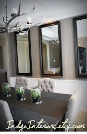 Mirror Dining Table by Make A Statement In The Dining Room With Three Large Mirrors