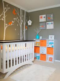 Nursery Decorating by Baby Boy Nursery With Grey Wall Colors And Modern Crib Cool Baby