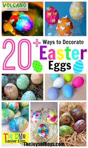 cheap easter eggs 20 ways to decorate easter eggs with kids