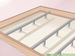 How To Build A Platform Queen Bed Frame by 3 Ways To Build A Wooden Bed Frame Wikihow