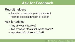 resume white space how to write a resume for babysitting with pictures wikihow