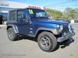 blue jeep wrangler 2004 jeep wrangler x 4x4 in patriot blue pearl photo 4 730783