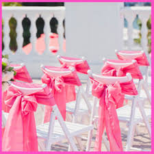 pink chair sashes chair sashes gum pink wedding chair sashes chair bows