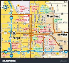 Northpark Mall Dallas Map by Fargo North Dakota Area Map Stock Vector 144494296 Shutterstock