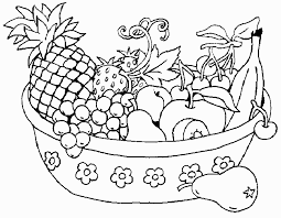 remarkable fruit plate coloring coloring pages