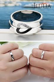 love rings design images Love shape sterling silver band set pinterest silver promise jpg