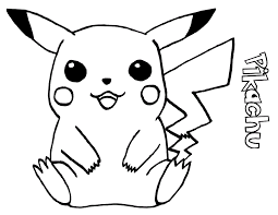 pokemon pikachu coloring pages free printable pikachu coloring