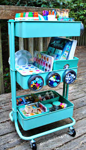 how to set up a kids arts crafts cart art supply cart for kids