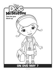 simple doc mcstuffins coloring images doctor mcstuffins