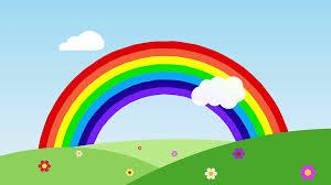 flower under a rainbow motion background videoblocks