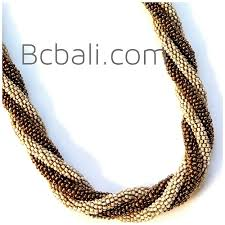 color beads necklace images Two color combination glass beads necklaces style bali two color jpg