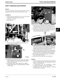 shift linkage adjustment john deere stx38 user manual page 201