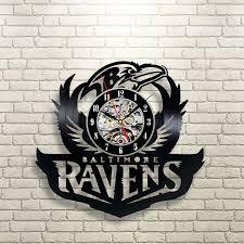 baltimore ravens vinyl record clock wall art home decor u003e u003e u003e see