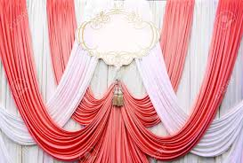 wedding backdrop background white and curtain backdrop background for wedding stock photo