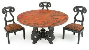 Hammered Copper Dining Table - Copper kitchen table