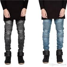 Mens Destroyed Skinny Jeans 2017 Jeans For Men Hi Street Mens Ripped Rider Biker Jeans