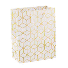 gold gift bags medium white gold geometric gift bag the container store