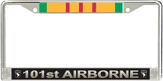 famu alumni license plate frame airborne division veteran service ribbon license plate frame