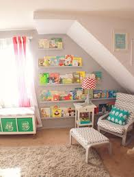cozy creative ways to display books in the nursery