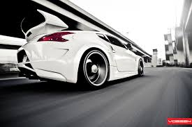 nissan 370z slammed vossen wheels nissan 370z vossen cv3r