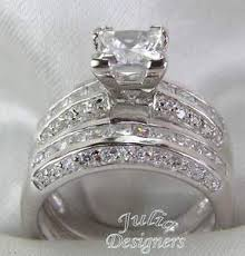 ebay rings silver images 2 53ct princess cut engagement wedding ring set sterling silver jpg
