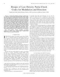 design of low density parity check codes for modulation and