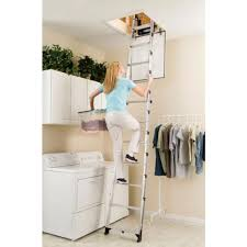 55 retractable ladder for attic steel telescopic attic stairs