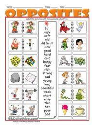 124 free esl adjectives opposites worksheets engl games