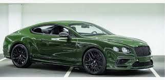 british racing green bentley continental supersport in british racing green topgear