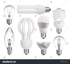 Who Invented The Led Light Bulb by Set Incandescent Halogen Compact Fluorescent Led Stock Photo