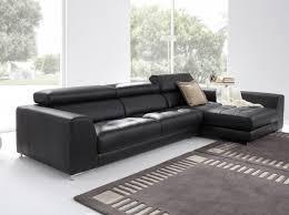 Black Modern Leather Sofa Contemporary Leather Sofa Design