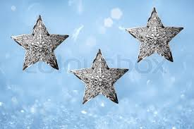 three metal silver ornaments turquoise aqua