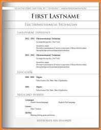 Microsoft Word Resume Sample Free Basic Resume Templates Microsoft Word Fresher Resume Formats