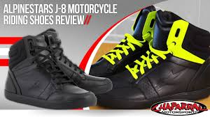 sportbike riding boots alpinestars j 8 motorcycle riding shoes review youtube