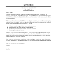 cover letter social services worker