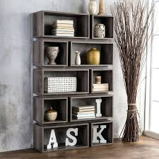 Grey Bookcase Ikea Bookcase Open Bookcase Shelf Open Wood And Metal Bookcase On