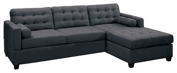 Down Filled Sectional Sofa by 2 Piece Modern Polyfiber Reversible Sectional Transitional