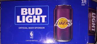 how much is a 18 pack of bud light platinum new limited edition rare los angeles lakers bud light 18 pack beer
