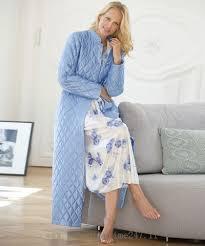 robes de chambres femmes cost charme damart robe de chambre matelassée en satin bleu azur