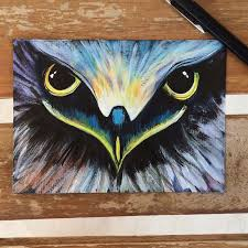 diy acrylic painting of eagle eye 6 steps