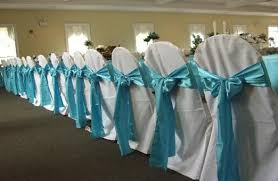 turquoise chair sashes details party rental how to tie chair sashes