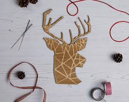 Christmas Decorated Deer Head by Christmas Lights Bottle Lamp Christmas Decorations Stag